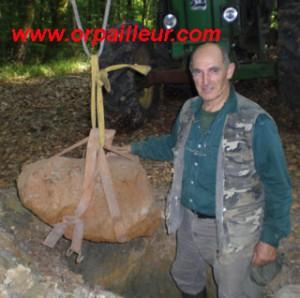 enorme météorite découverte en France avec un detecteur de grosse masse